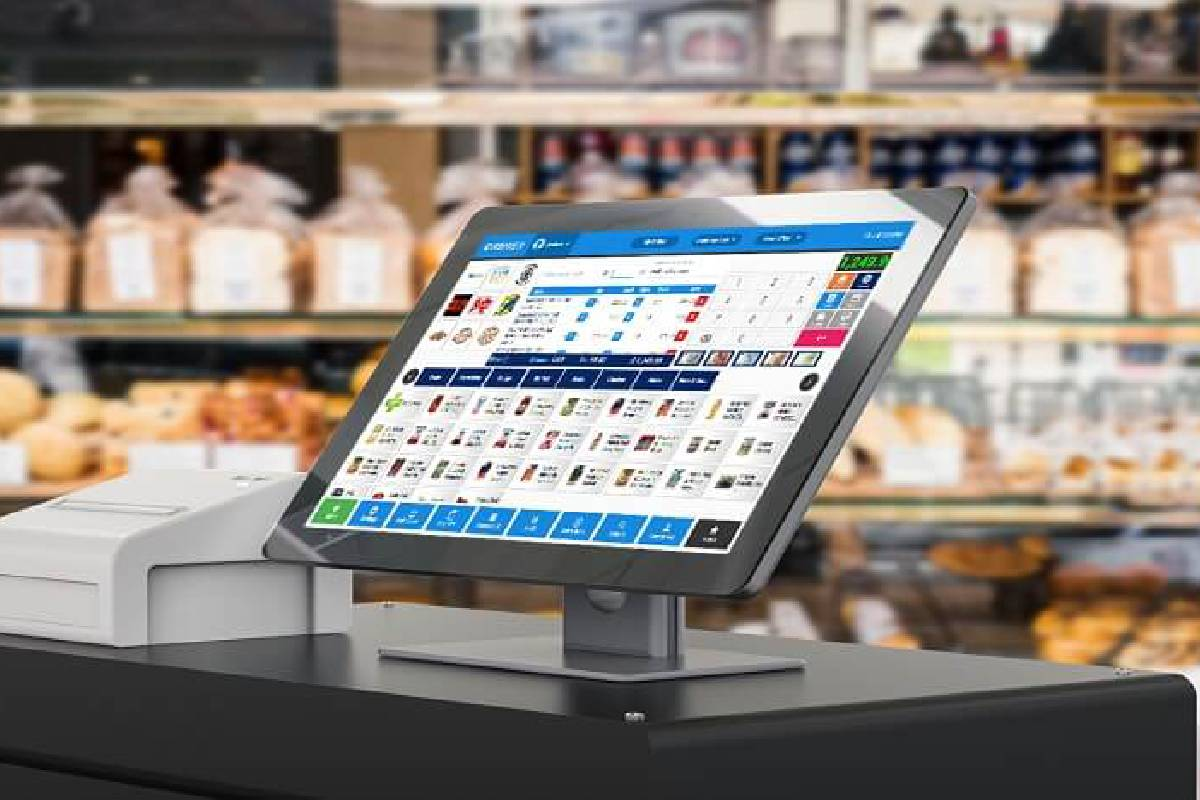 A POS System placed at the counter of a bakery to make billing transactions easier.